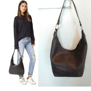 DKNY hobo bag in luxe leather.
